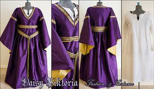 Purple and Gold Silk Bliaut