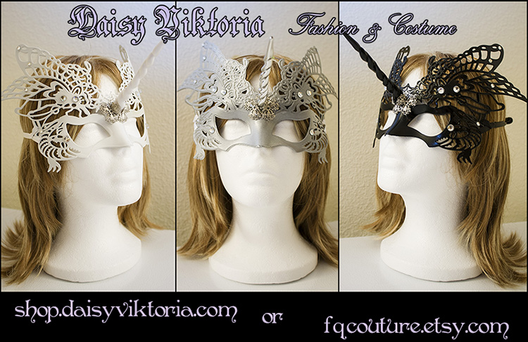 Butterfly Unicorn Masks by DaisyViktoria