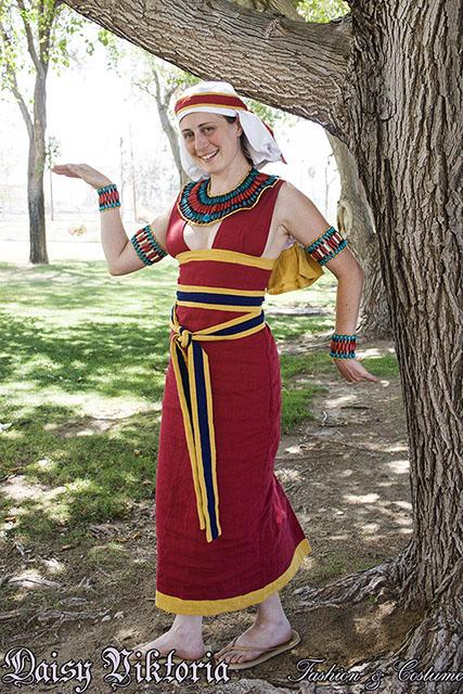 Red Egyptian Sheath Dress by DaisyViktoria