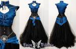 Black Sapphire Elf Princess Gown