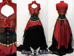 Black Ruby Elf Princess Gown