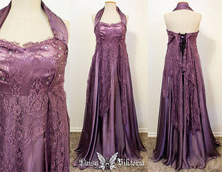 Lavender lace and chiffon elf princess gown by DaisyViktoria