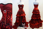 Scarlett Princess Ruffled Fairytale Gown by DaisyViktoria