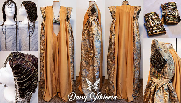 Ellaria Sand Cosplay Gown and Cape