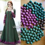 Medieval Fabric Buttons - PDF Tutorial by DaisyViktoria