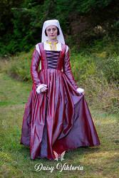 Pink Silk Kirtle - 16th century Flemish lady