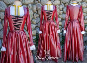 Pink Silk Kirtle - 16th century Flemish dress