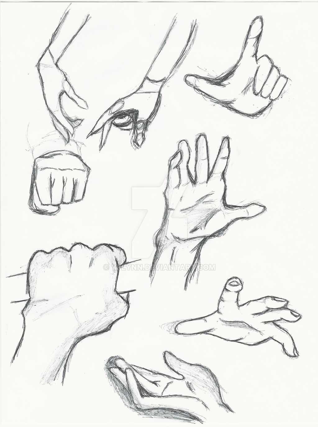 Hand Study/ Anime hands by Yflynn on DeviantArt