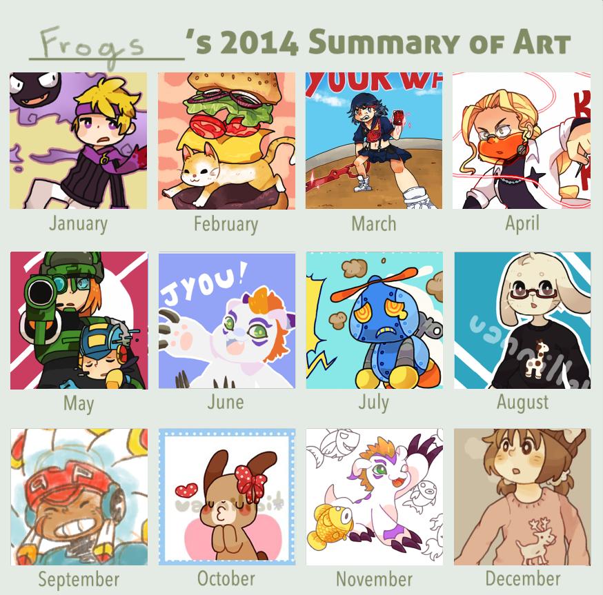 2014 Summary of Art by vanillabit