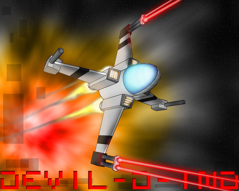 Rough 3D Space Fighter 1 - Plus Wing by Devil-D-IND