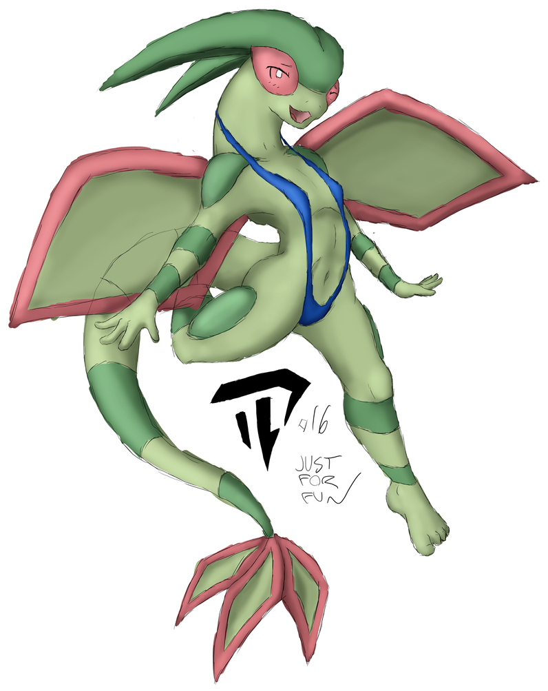 Rough slingshot Anthro Flygon - 20160625 by Devil-D-IND