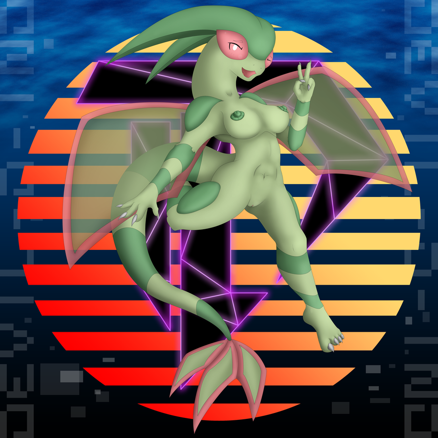 Anthro Flygon - VER Natural 20160703 by Devil-D-IND
