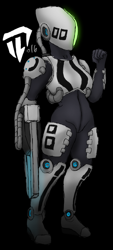 Rough female cyborg 20160921 by Devil-D-IND