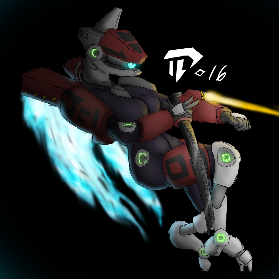Rough female cyborg 20160925 by Devil-D-IND