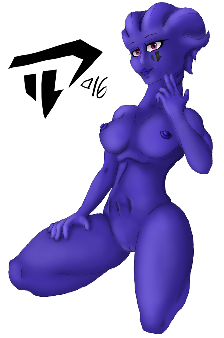 Rough sitting Asari 20161127 by Devil-D-IND