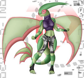 Anthro Flygon - VER Fighter 20161212 by Devil-D-IND