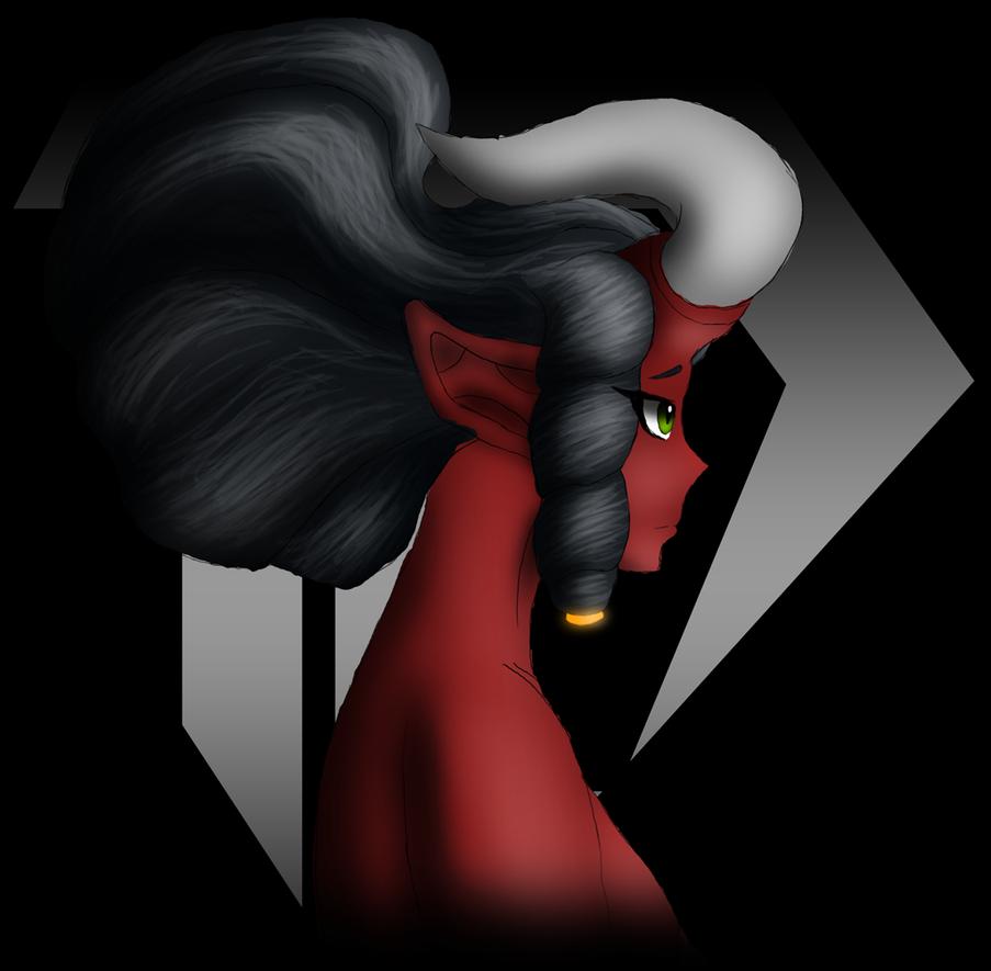 Practice - Devilgirl side profile 20170725 by Devil-D-IND