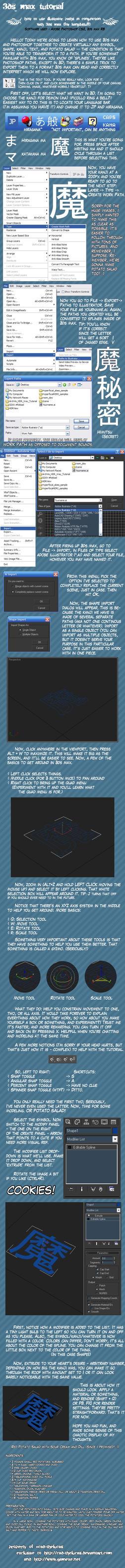 3D Kanji tutorial by CAD-TheLucas