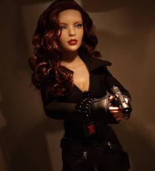 OOAK Black Widow Shield Doll by ShannonCraven