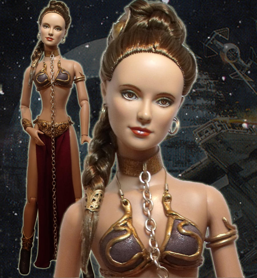 Princess Leia Gold Bikini Doll by ~ShannonCraven on deviantART