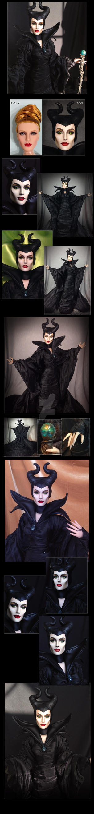 OOAK Custom Angelina Jolie Tonner Maleficent Doll by ShannonCraven
