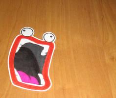 IMMA CHARGIN MAH LAZER-sticker