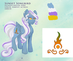 Sunset Songbird reference by velvetrwings