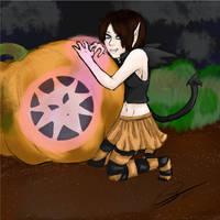 A Wolf Rider Halloween by Kumi4eva