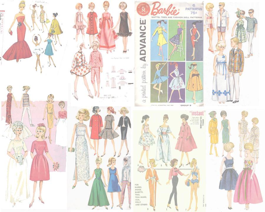 Vintage Barbie Wallpaper Barbie wallpaper pattern1 byVintage Barbie Wallpaper
