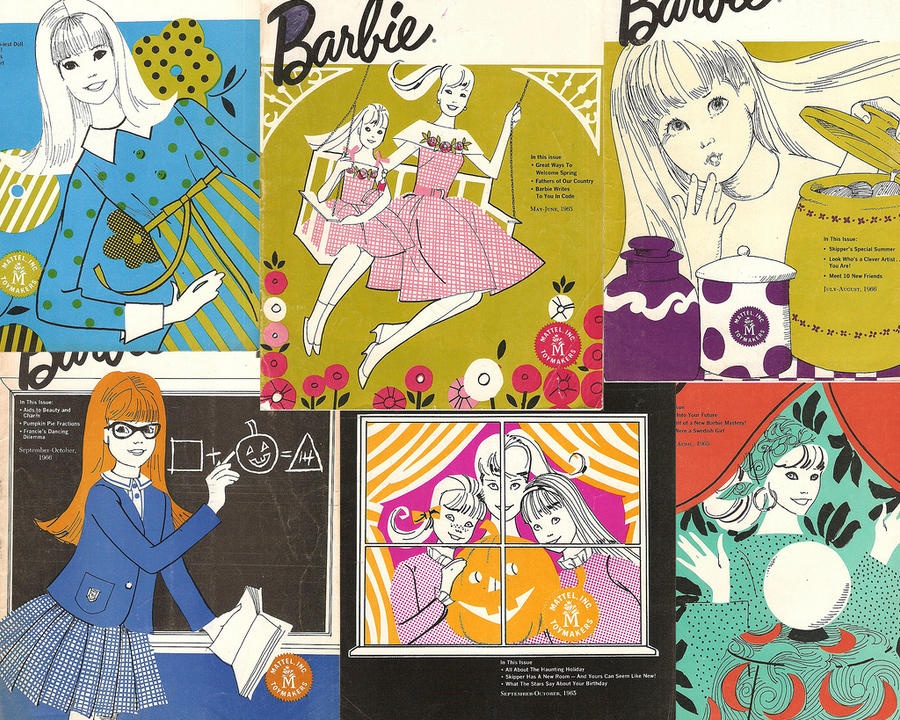 barbie magazine wallpaper by electricjesuscorpseVintage Barbie Wallpaper