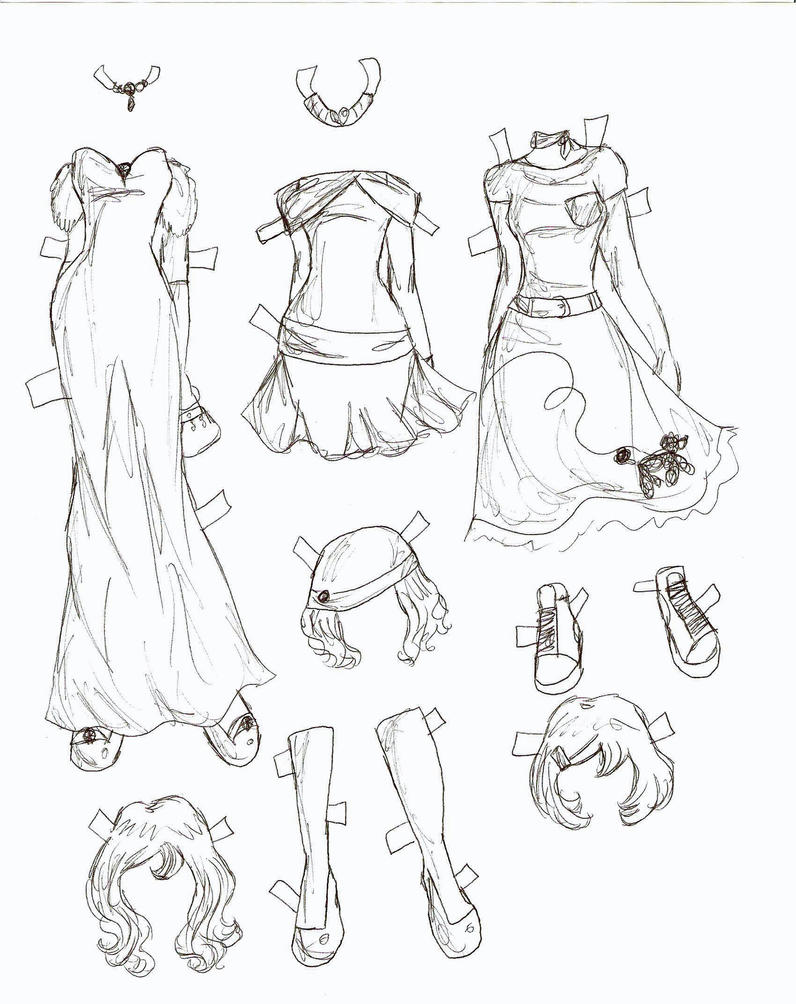 How To Draw Anime Clothes For Girls Howtodrawan Lucy Clothes 3 By  Electricjesuscorpse