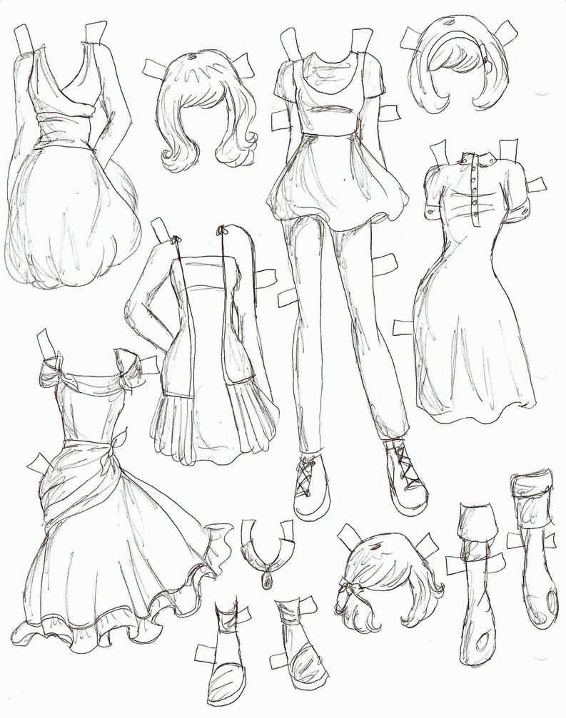 How To Draw Anime Girl Dress Lucy clothes 5 by