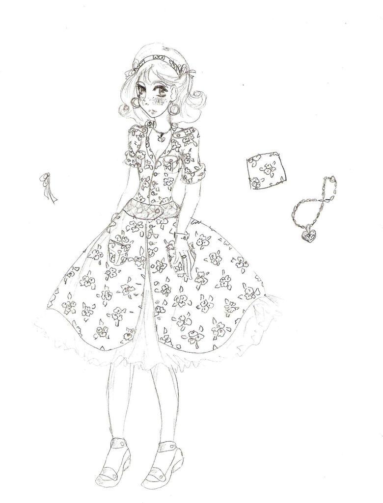 midge floral dress design by electricjesuscorpse on deviantart