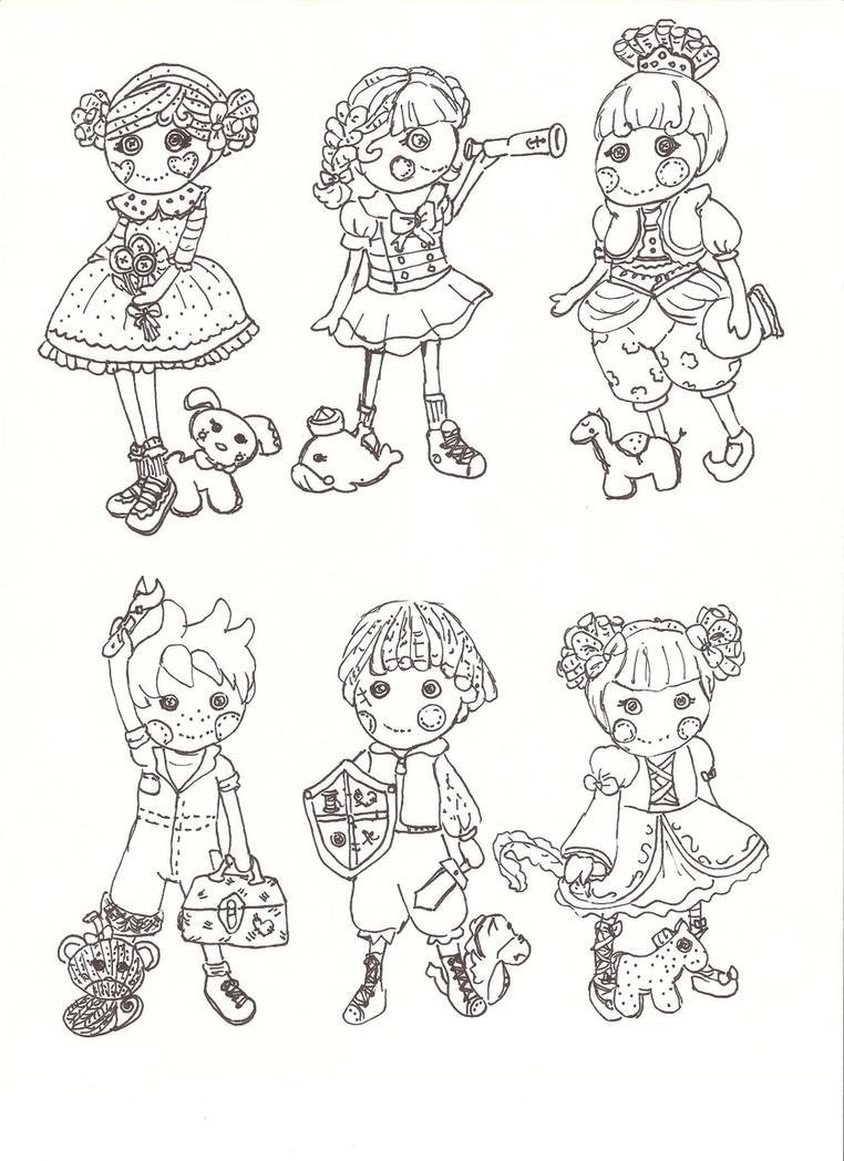 Free coloring pages lalaloopsy - Lalaloopsy Doodles By