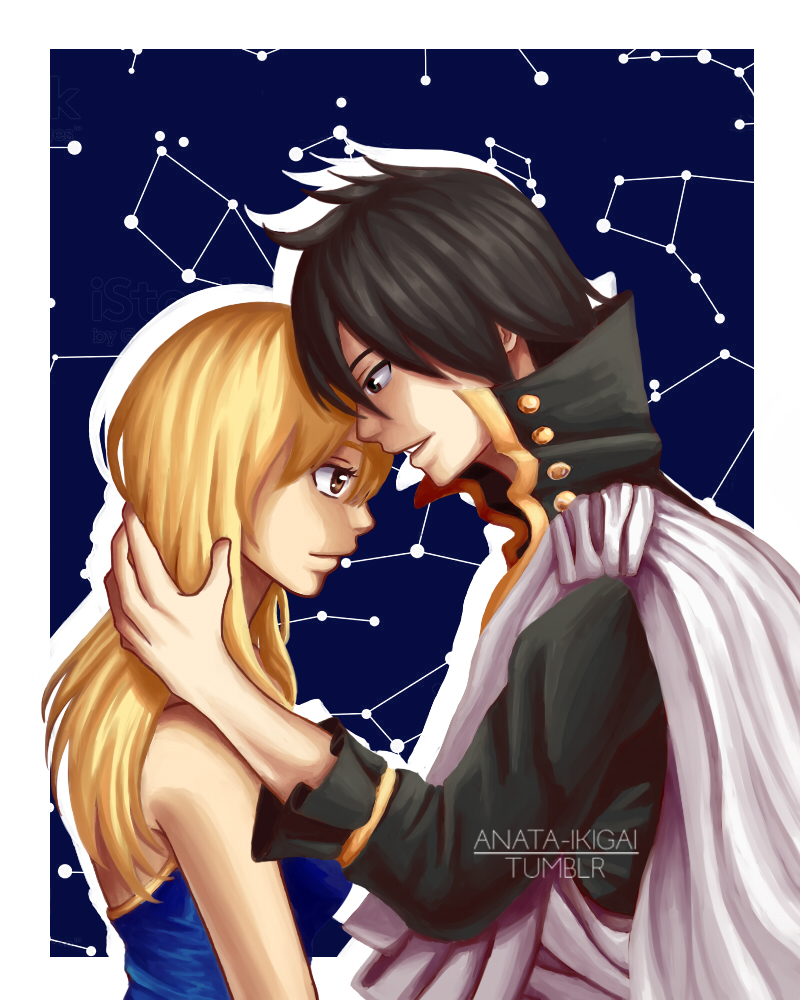Zeref and Lucy by WolfieANNE