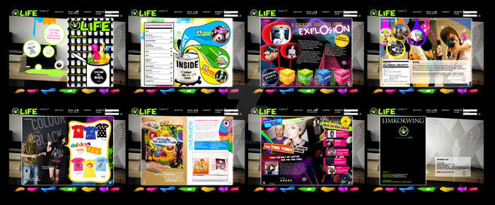 Online magazine layout