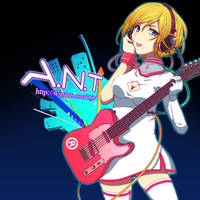 Stylish guitar girl