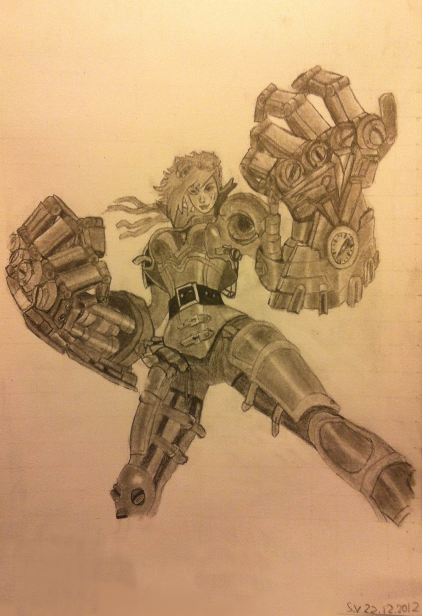 Vi the piltover enforcer by Sarah by FlutterRain
