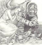 Angel and fireman
