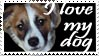 I Love My Dog, stamp by Laurasshadesofgrey