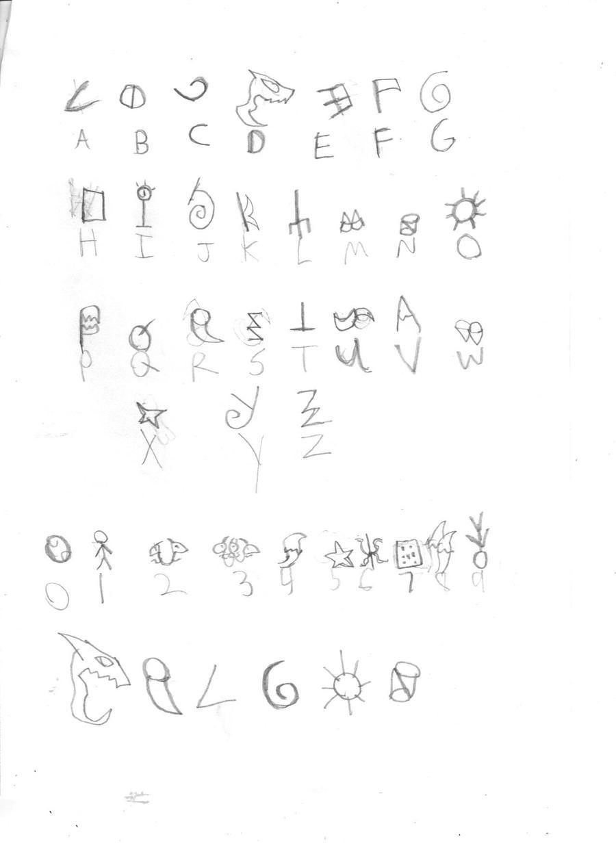Dragon writing by jackshow on DeviantArt