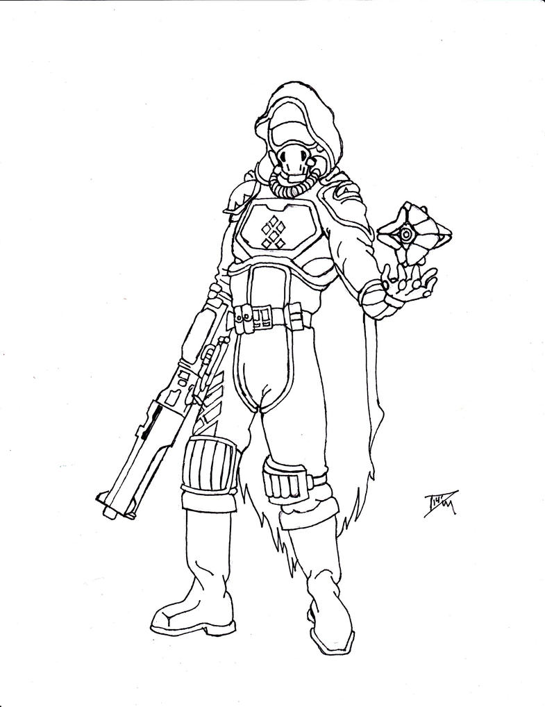 Line Art Year 1 : Destiny guardian line art by rpgfamily on deviantart
