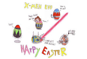 X-Men - Happy Easter by Fuzzyelf