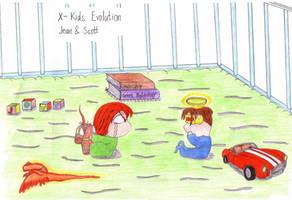 X-Kids Evo: Jean and Scott by Fuzzyelf