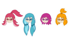 Possible Splatoon Hairstyles by LolCat22