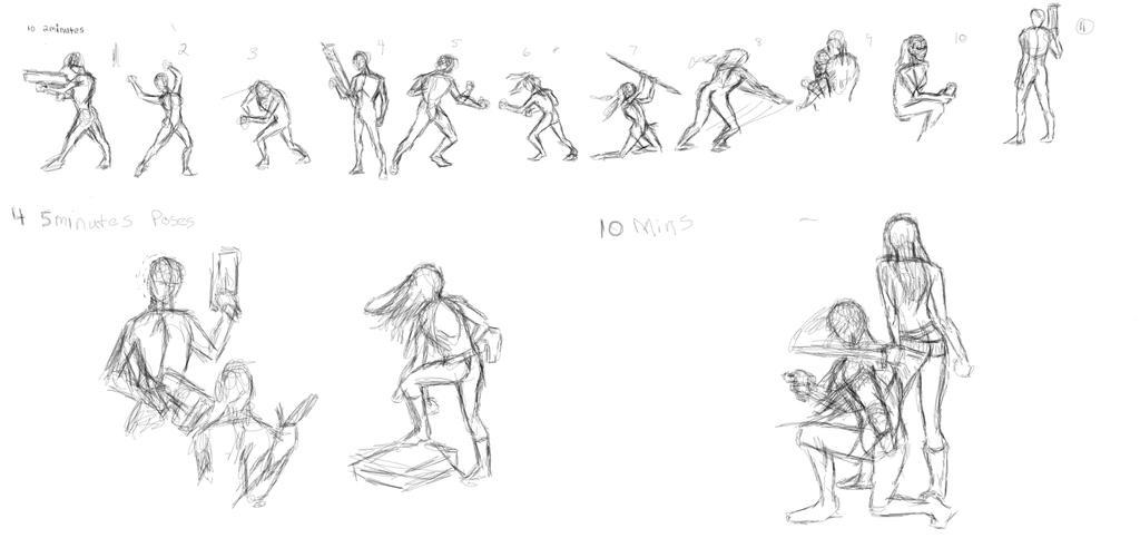 Dare2Draw20140724 sketches by cu-morrigan