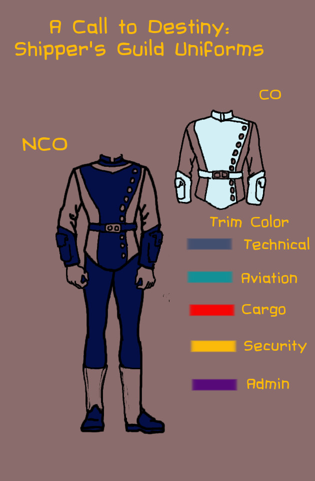 ACTD Shipper Uniform Officers by cu-morrigan