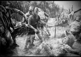 American wounded during Vietnam War by mattright