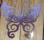 tribal butterfly 2 in purple