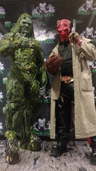 swampthing and hellboy by metal-otaku